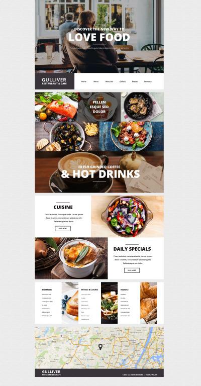 Responsywny motyw WordPress #55438 na temat: kawiarnia i restauracja