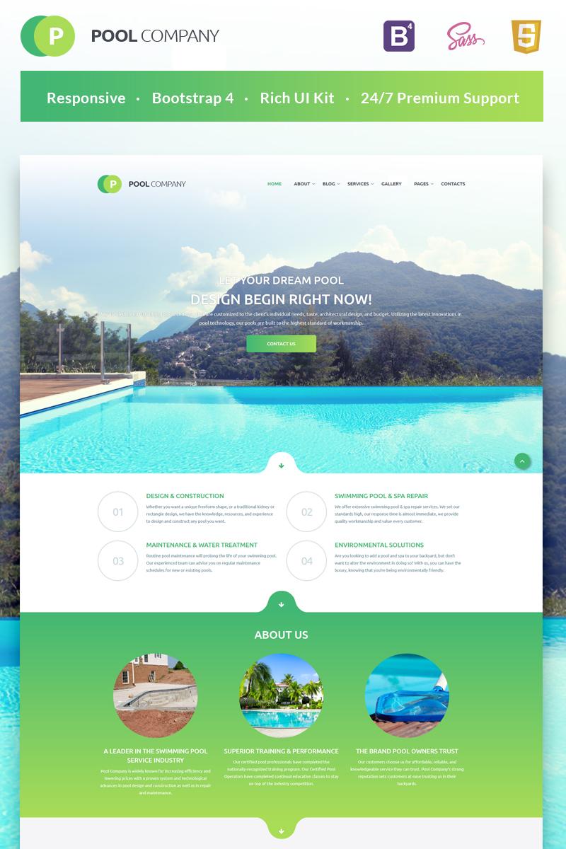 Responsywny szablon strony www Pool Company Bootstrap Theme #55408
