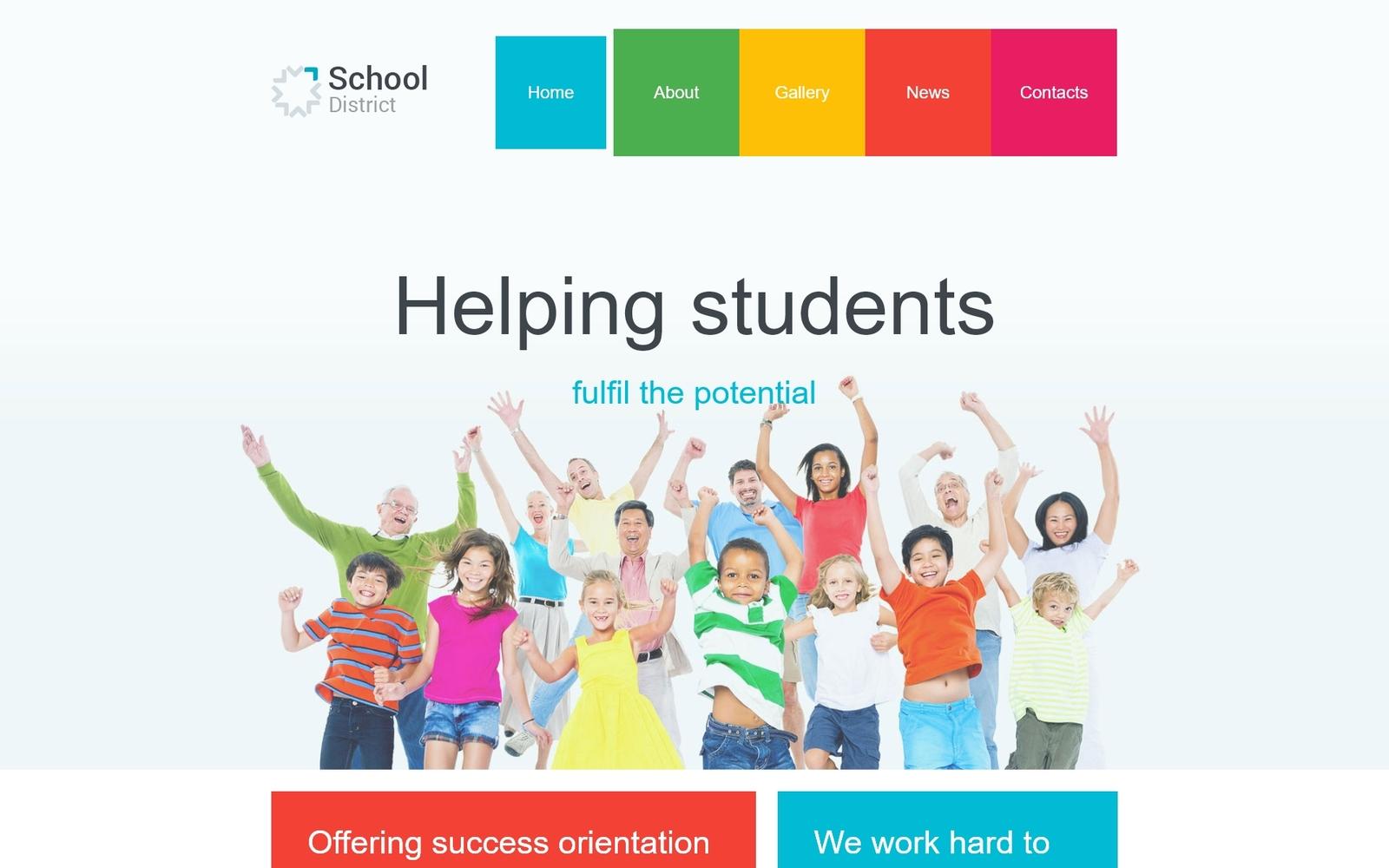 """School District"" - адаптивний Joomla шаблон №55489"