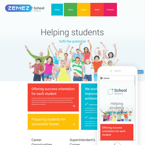 School District - Responsive Joomla! Template