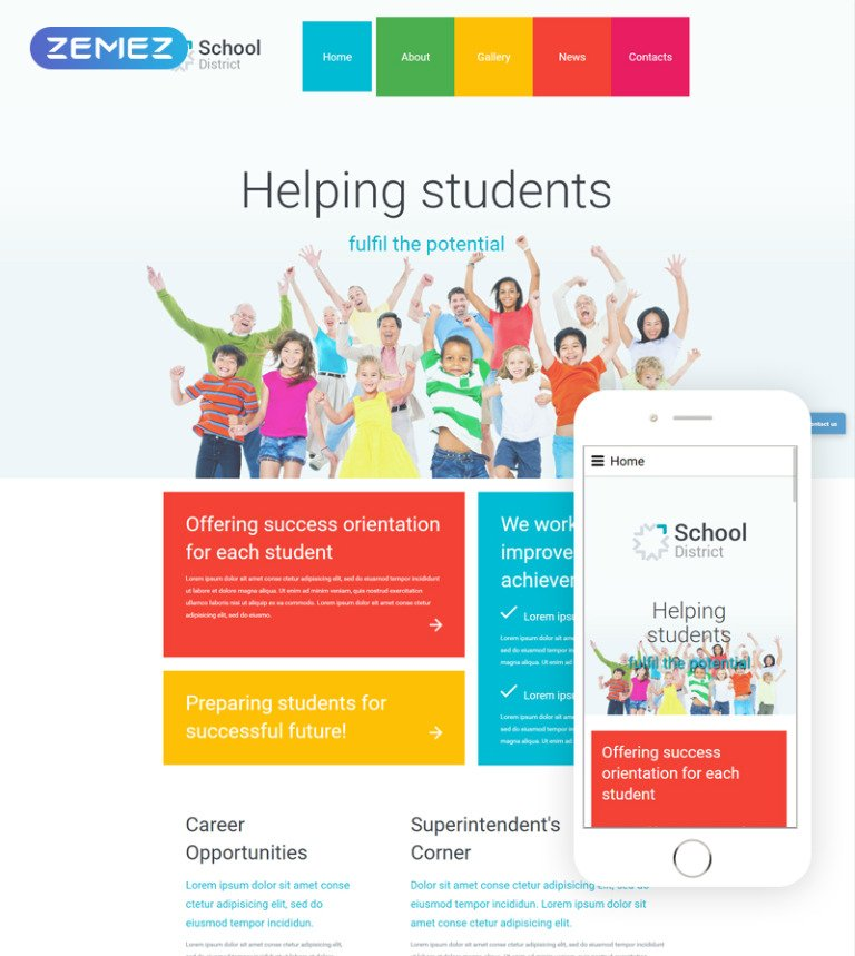 School District Joomla Template