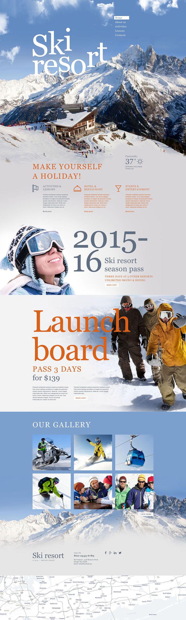Skiing Muse Template New Screenshots BIG