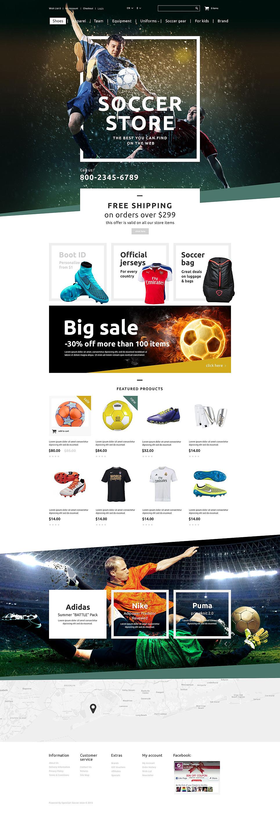 Soccer Shop OpenCart Template New Screenshots BIG
