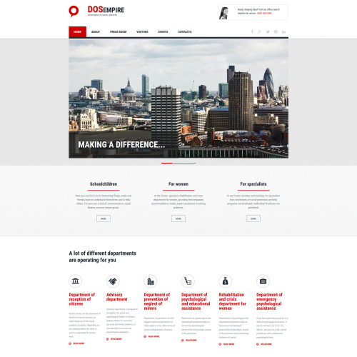 Dosempire - MotoCMS 3 Template based on Bootstrap