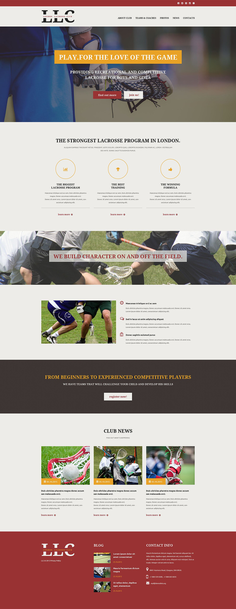 Sport Responsive Website Template New Screenshots BIG