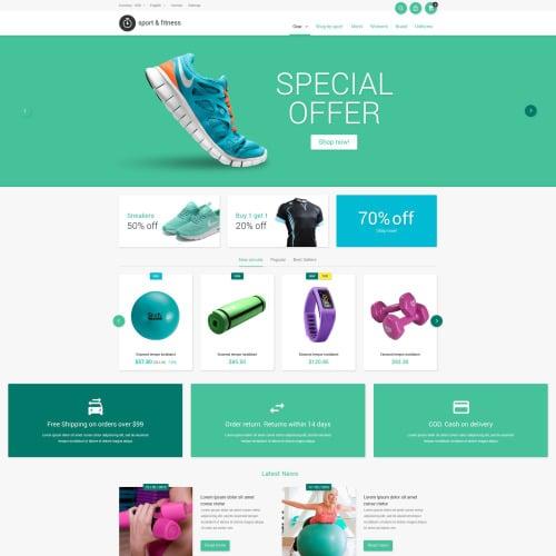 Sport & Fitness - PrestaShop Template based on Bootstrap