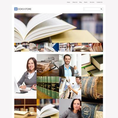 Tema de WordPress #51772 para Sitio de Libros