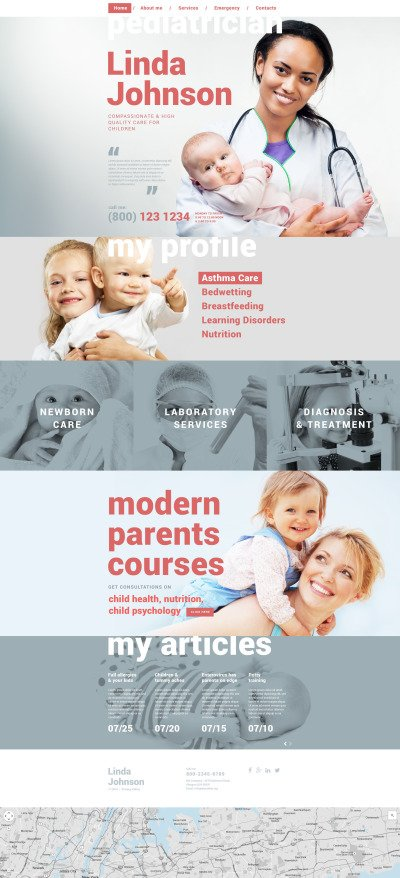 Pediatrician Responsive Template Siti Web
