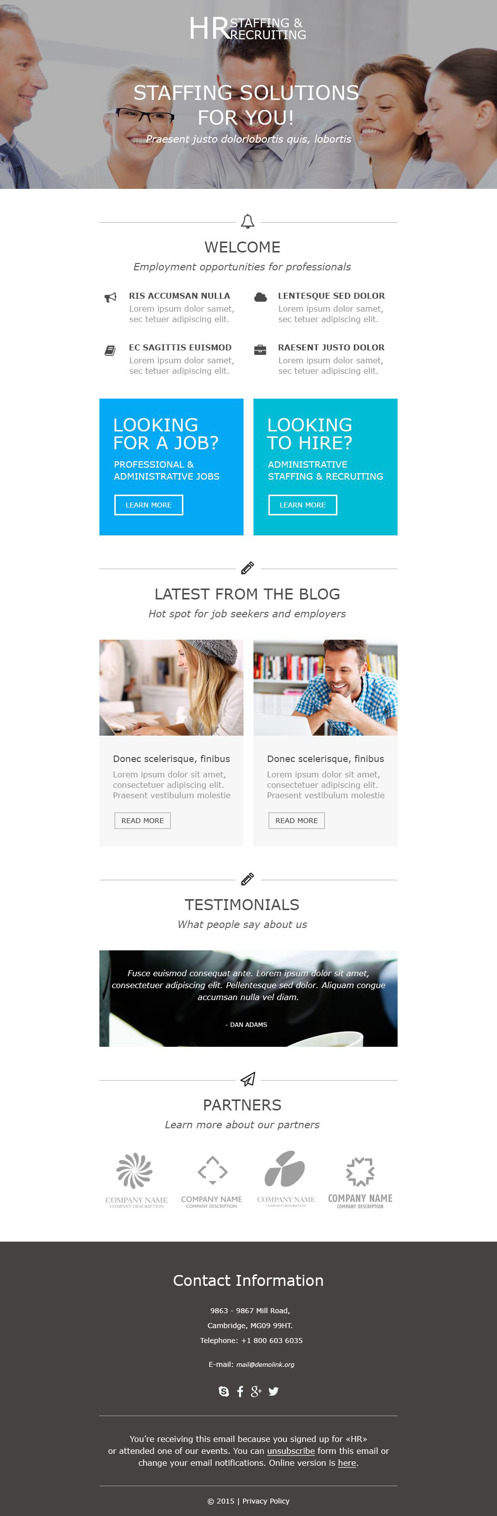 Template de Newsletter Flexível para Sites de Consultoria №55484