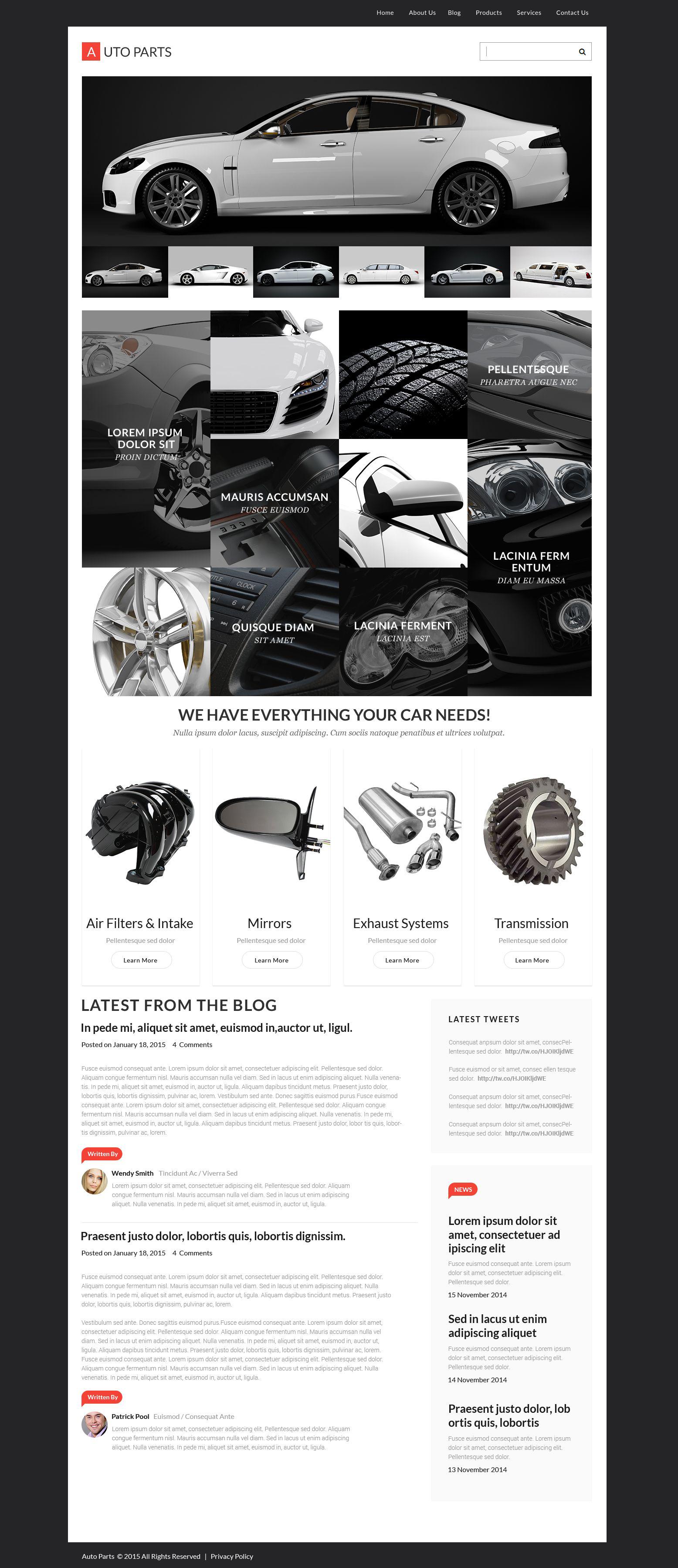 Thème WordPress adaptatif pour vente de roues et pneus #55453