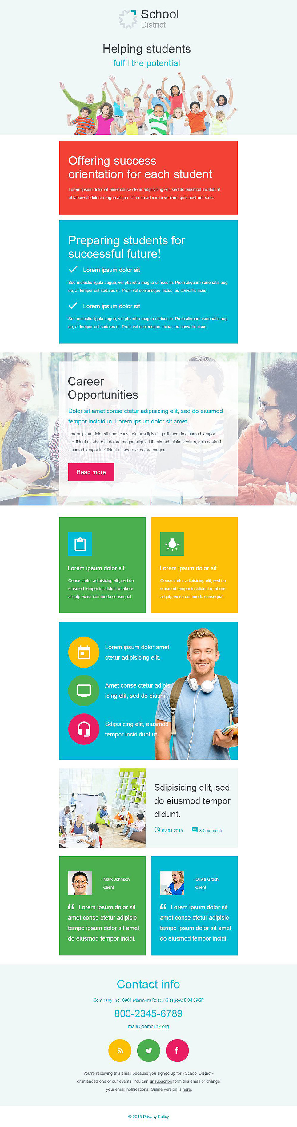 University Responsive Newsletter Template New Screenshots BIG