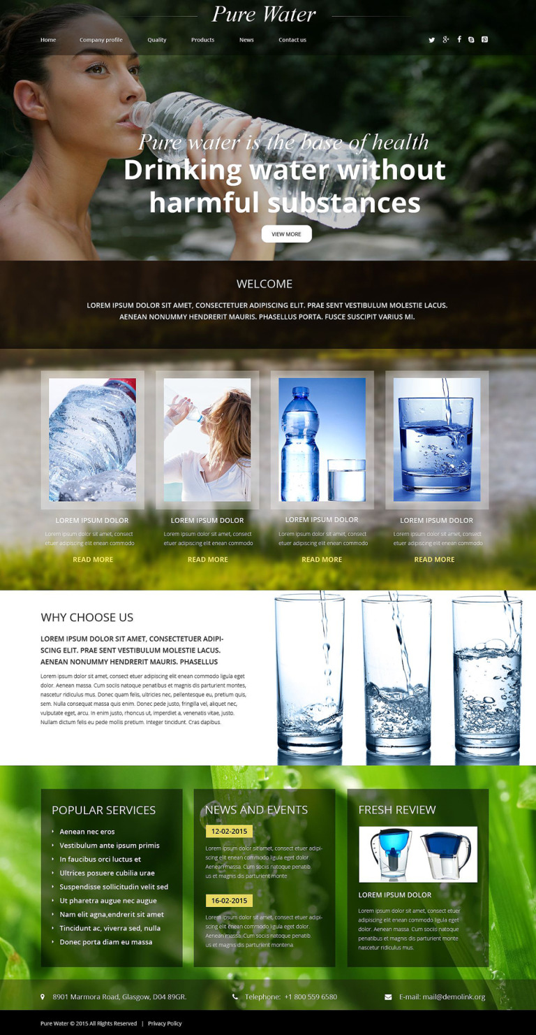 Water Responsive Website Template New Screenshots BIG