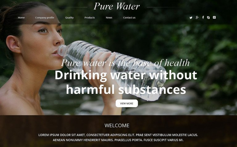 Water Responsive Website Template