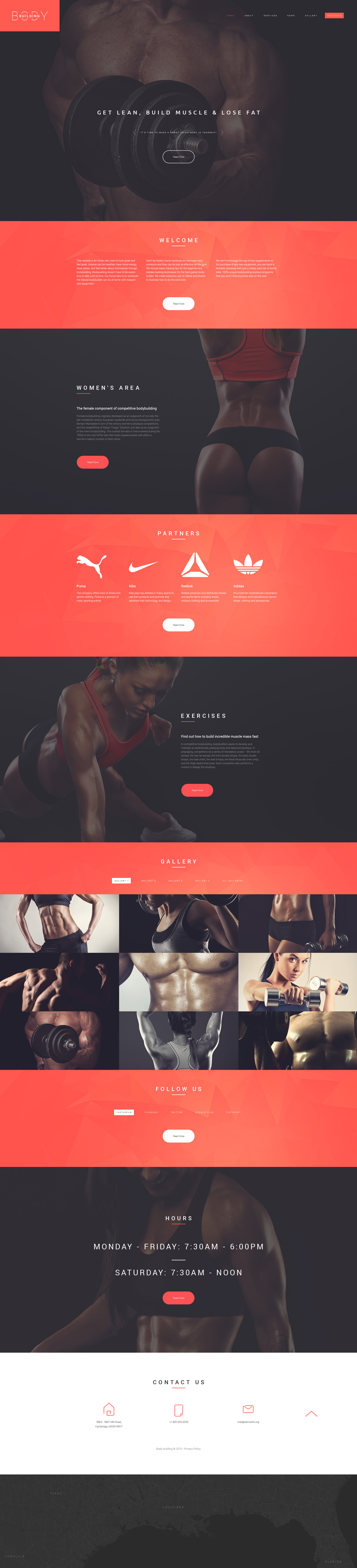 "Website Vorlage namens ""Bodybuilders' Club"" #55451"