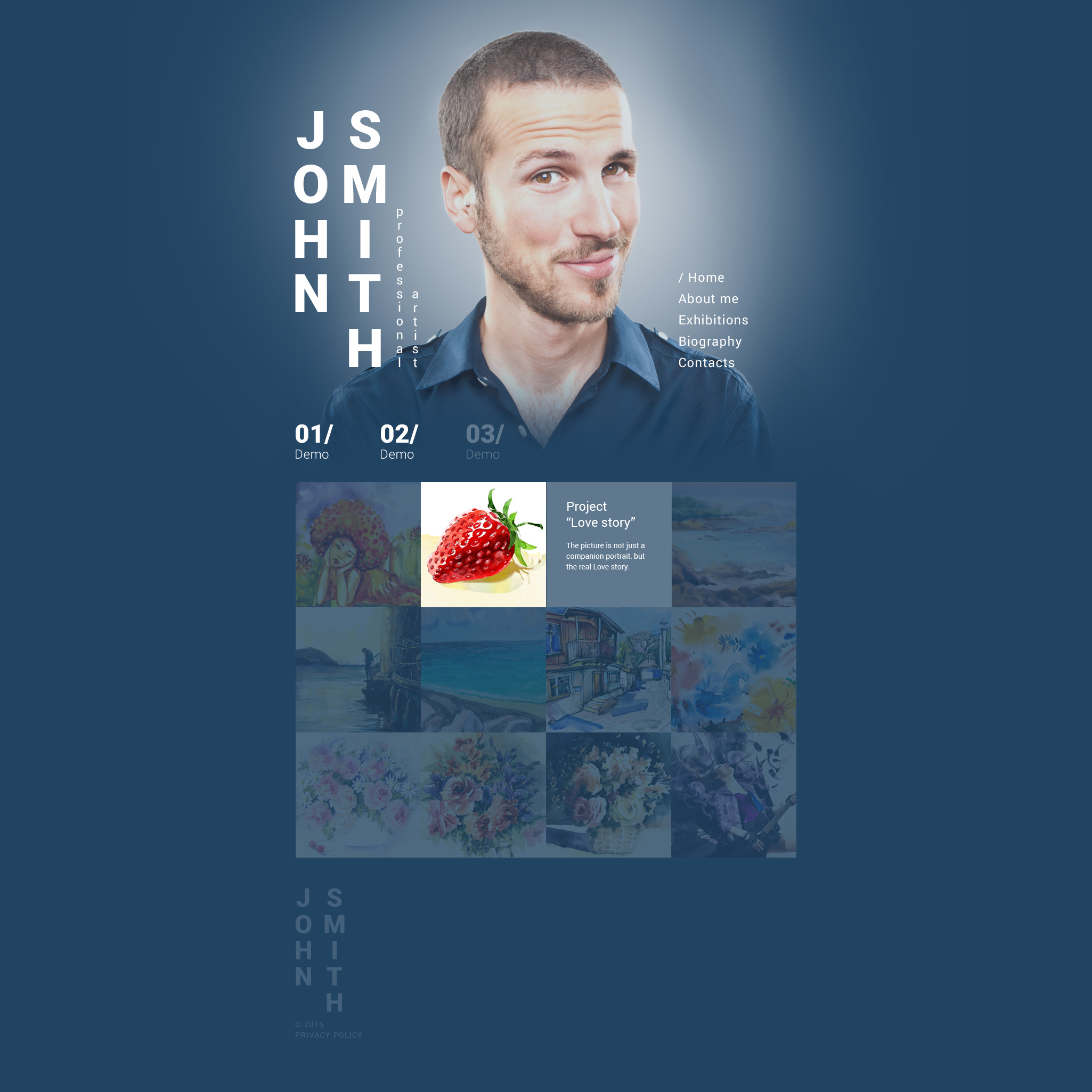"Website Vorlage namens ""John Smith"" #55409 - Screenshot"