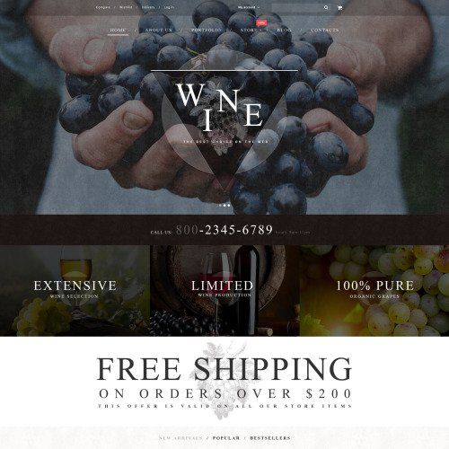Wine - WooCommerce Template based on Bootstrap