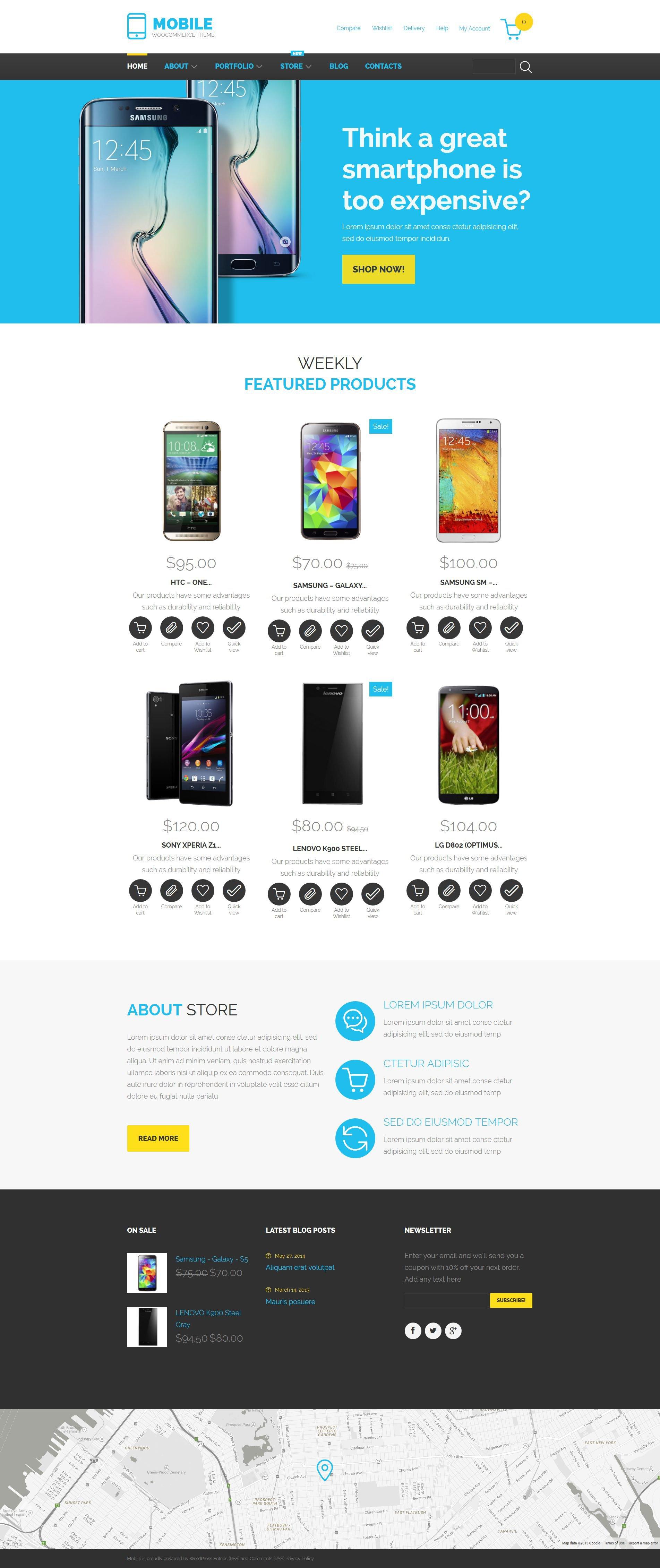 "WooCommerce Theme namens ""Mobiltechnologie"" #55429 - Screenshot"