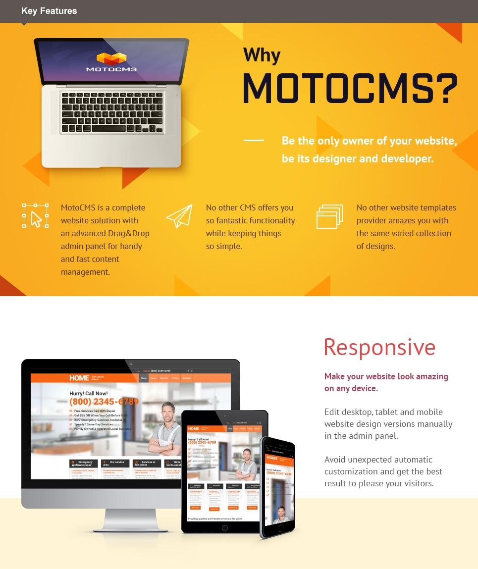 Home Repairs Responsive Moto CMS 3 Template