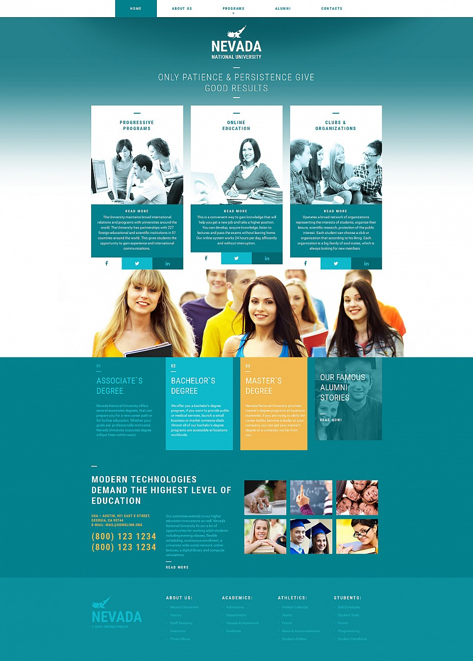 High education website template
