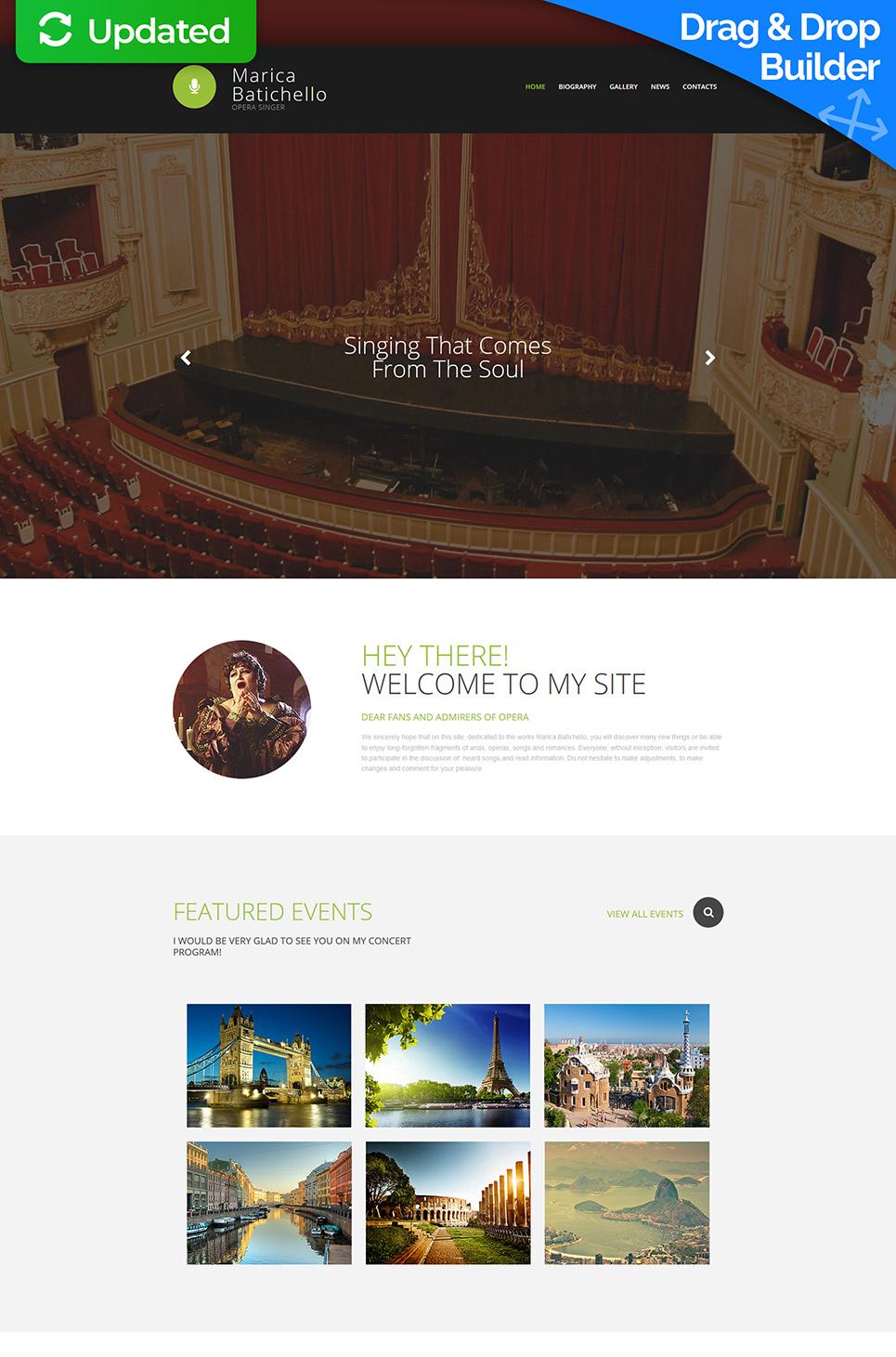 Web design for musical performer