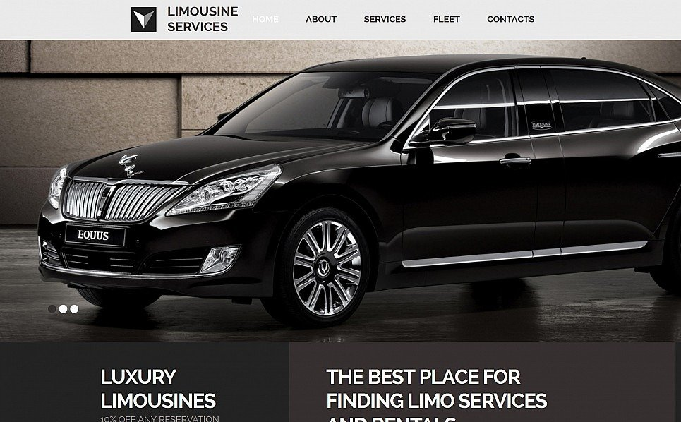 Responsives Moto CMS 3 Template für Limousinenservice  New Screenshots BIG