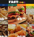 Cafe & Restaurant Moto CMS 3  Template 55508
