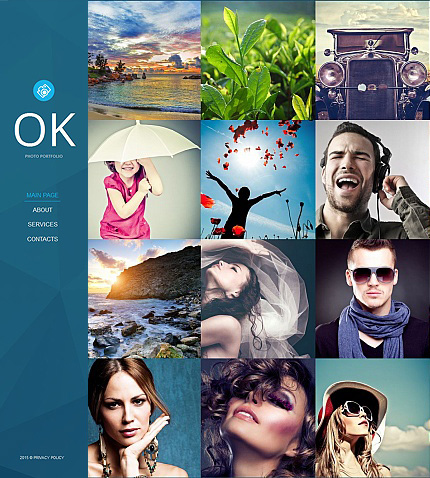 ADOBE Photoshop Template 55525 Home Page Screenshot