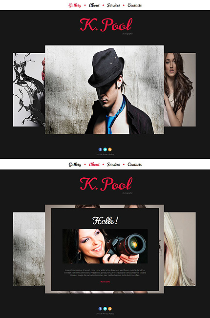 ADOBE Photoshop Template 55526 Home Page Screenshot