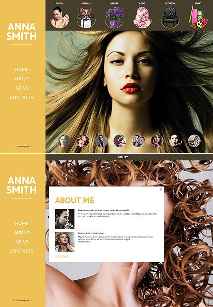 ADOBE Photoshop Template 55527 Home Page Screenshot