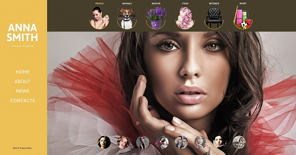 Modèle De Galerie Photo  pour portfolio de photographe New Screenshots BIG