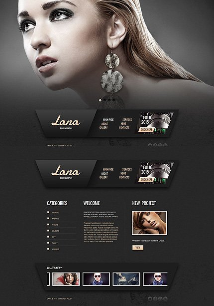 ADOBE Photoshop Template 55528 Home Page Screenshot