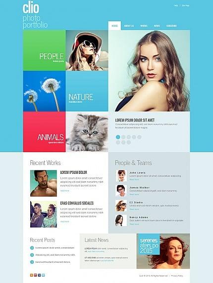 ADOBE Photoshop Template 55529 Home Page Screenshot