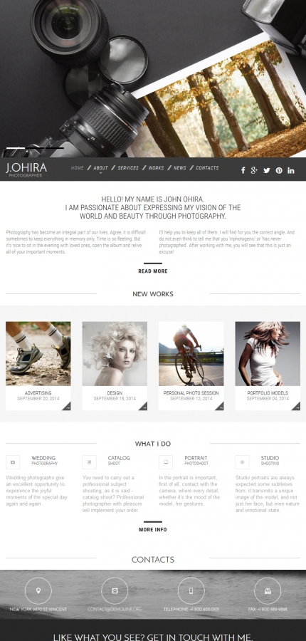 ADOBE Photoshop Template 55537 Home Page Screenshot