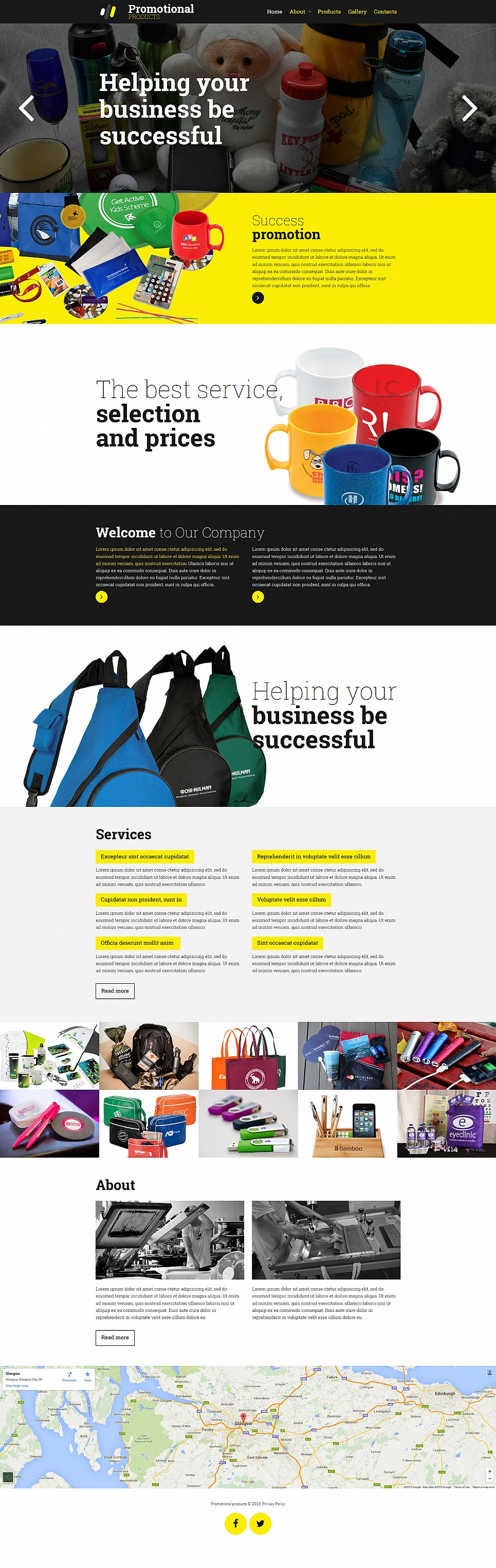 Print shop site with parallax