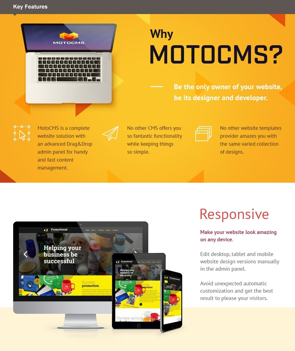 Promotion Products  Responsive Moto CMS 3 Template