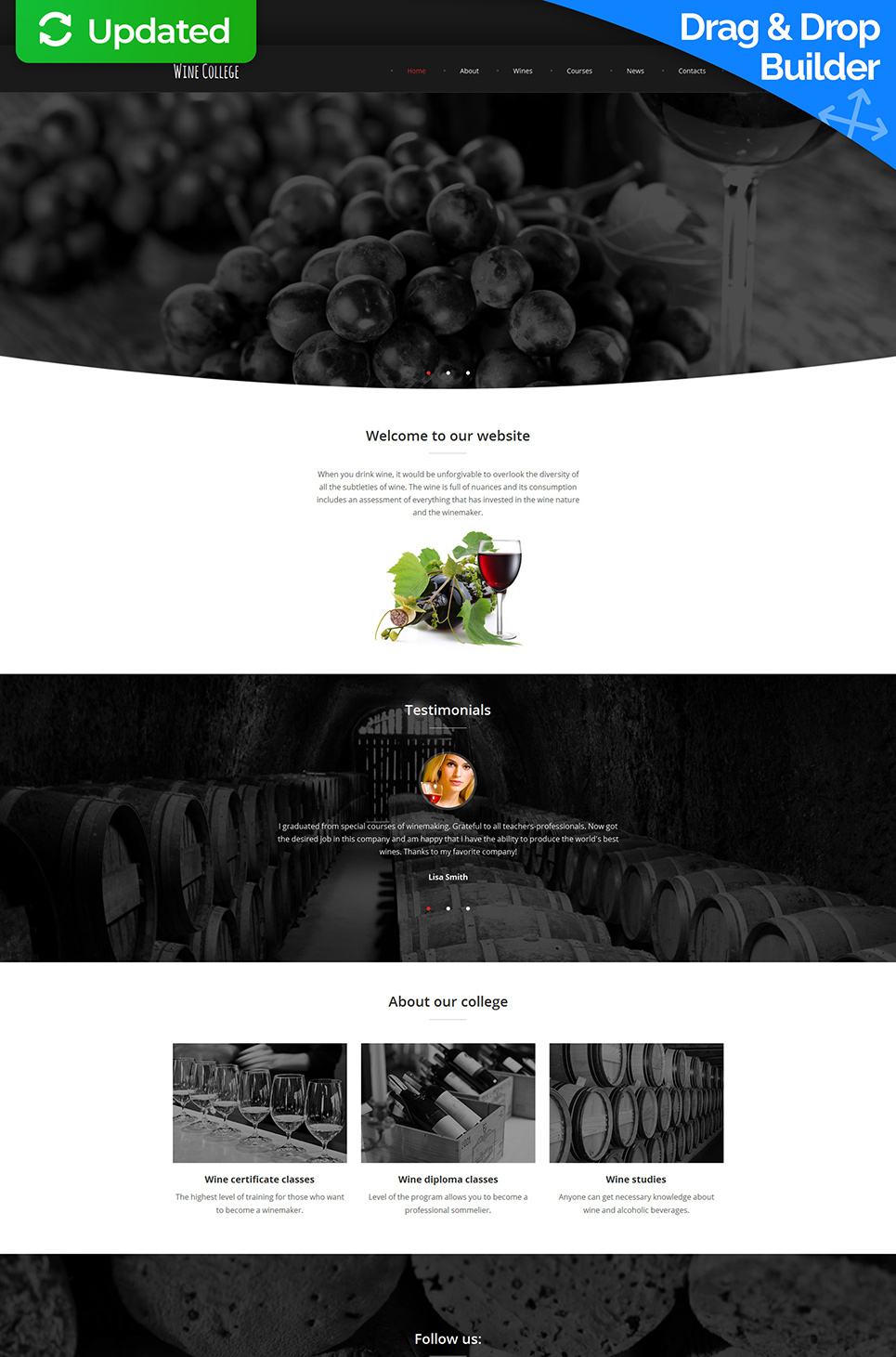 Responsive web design for winery