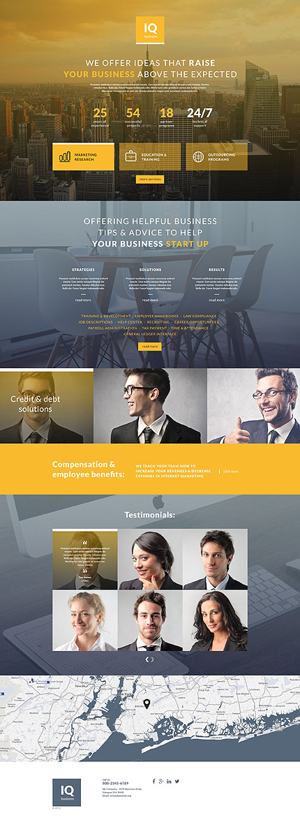 Business landing page template website templates flashek Image collections