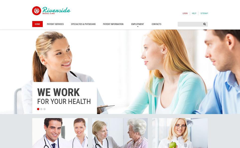Responzivní Šablona webových stránek na téma Zdravotní New Screenshots BIG