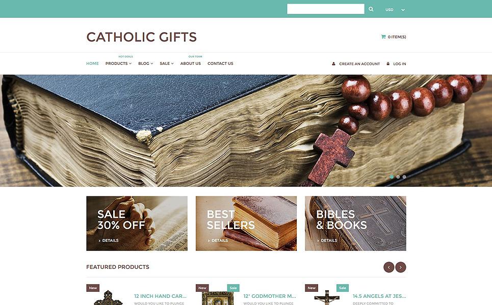 Responsive Catholic Church Templates Shopify Teması New Screenshots BIG