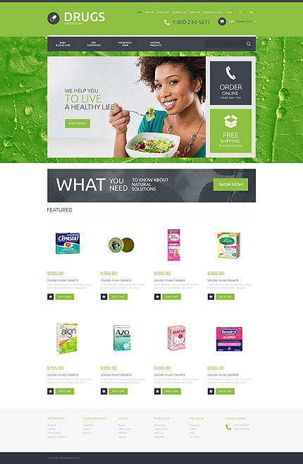 osCommerce Template 55552 Main Page Screenshot