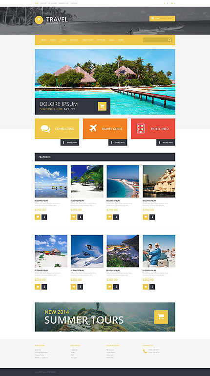 osCommerce Template 55553 Main Page Screenshot