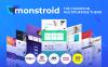 Responsivt Monstroid WordPress-tema En stor skärmdump
