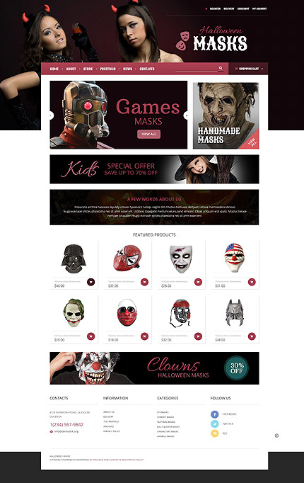 osCommerce Template 55558 Main Page Screenshot