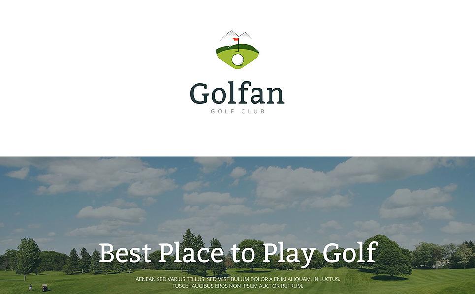 Responsive Golf  Açılış Sayfası Şablonu New Screenshots BIG