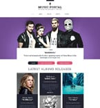 Music Website  Template 55566