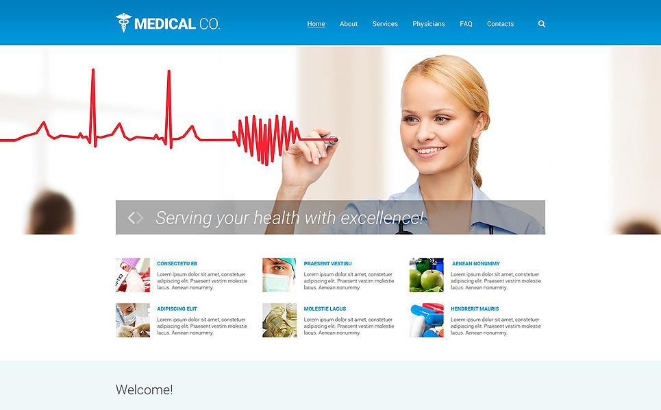 Responsive Website template over Medische New Screenshots BIG