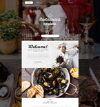 Cafe & Restaurant Website  Template 55568