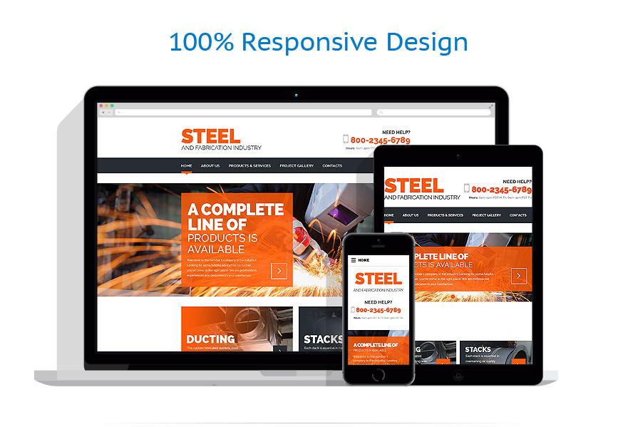 Modèles HTML5 Industriel #55571