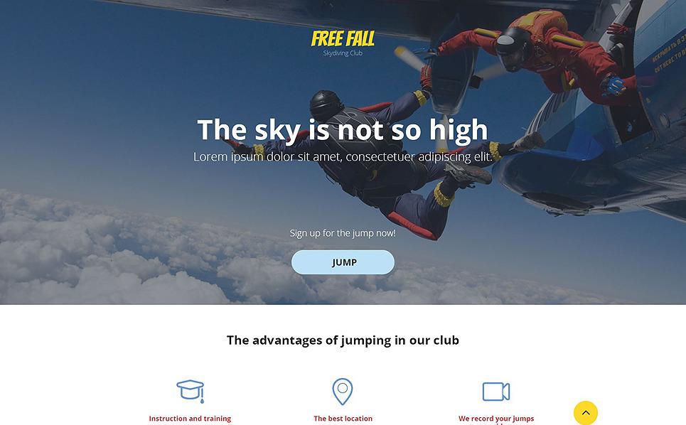 Responsive Landingspagina Template over Parachutespringen  New Screenshots BIG