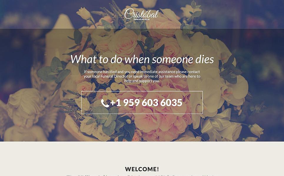 Адаптивний Шаблон цільової сторінки на тему похоронне бюро New Screenshots BIG